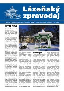 Lázeňský zpravodaj<br>2. ročník, číslo 1<br>leden - březen 2017