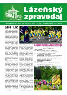 Lázeňský zpravodaj<br>2. ročník, číslo 2<br>duben - červen 2017