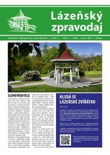 Lázeňský zpravodaj<br>3. ročník, číslo 2<br>duben - červen 2018