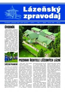 Lázeňský zpravodaj<br>1. ročník, číslo 1<br>duben - červen 2016