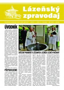 Lázeňský zpravodaj<br>1. ročník, číslo 2<br>červenec - září 2016