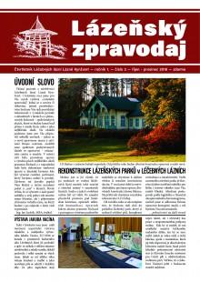 Lázeňský zpravodaj<br>1. ročník, číslo 3<br>říjen - prosinec 2016