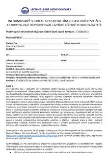 Informovaný souhlas s poskytnutím zdravotních služeb a s hospitalizací při poskytování lázeňské léčebně regabilitační péče